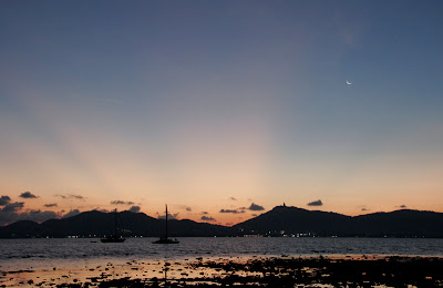 After sunset - moon setting too