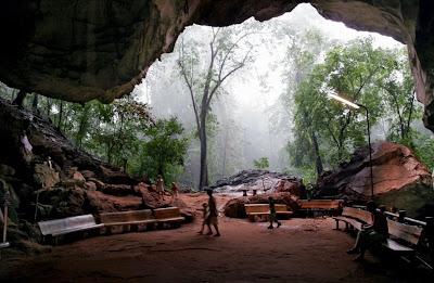 Cave at Wat Suwan Kuha, Phang Nga