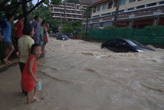 Flooding in Patong - photo by Phuket Wan