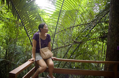 My dear wife in the jungle