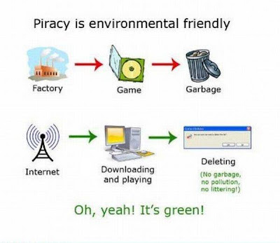 Piracy is environmental friendly
