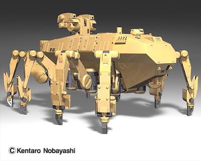 さて、前回に引き続き、多脚歩行戦車をレスキュー用に転用したメカをご紹介し... K's