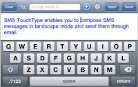 iPhone SMS Touch App.