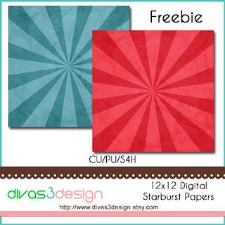 12x12 starburst paper
