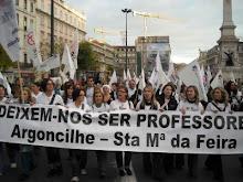 Manifestação de professores. O país em Lisboa.