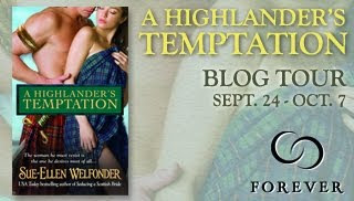 a highlander's temptation tour button