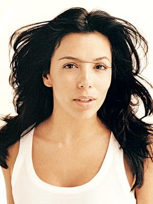 Eva Longoria Parker without makeup, probably printed