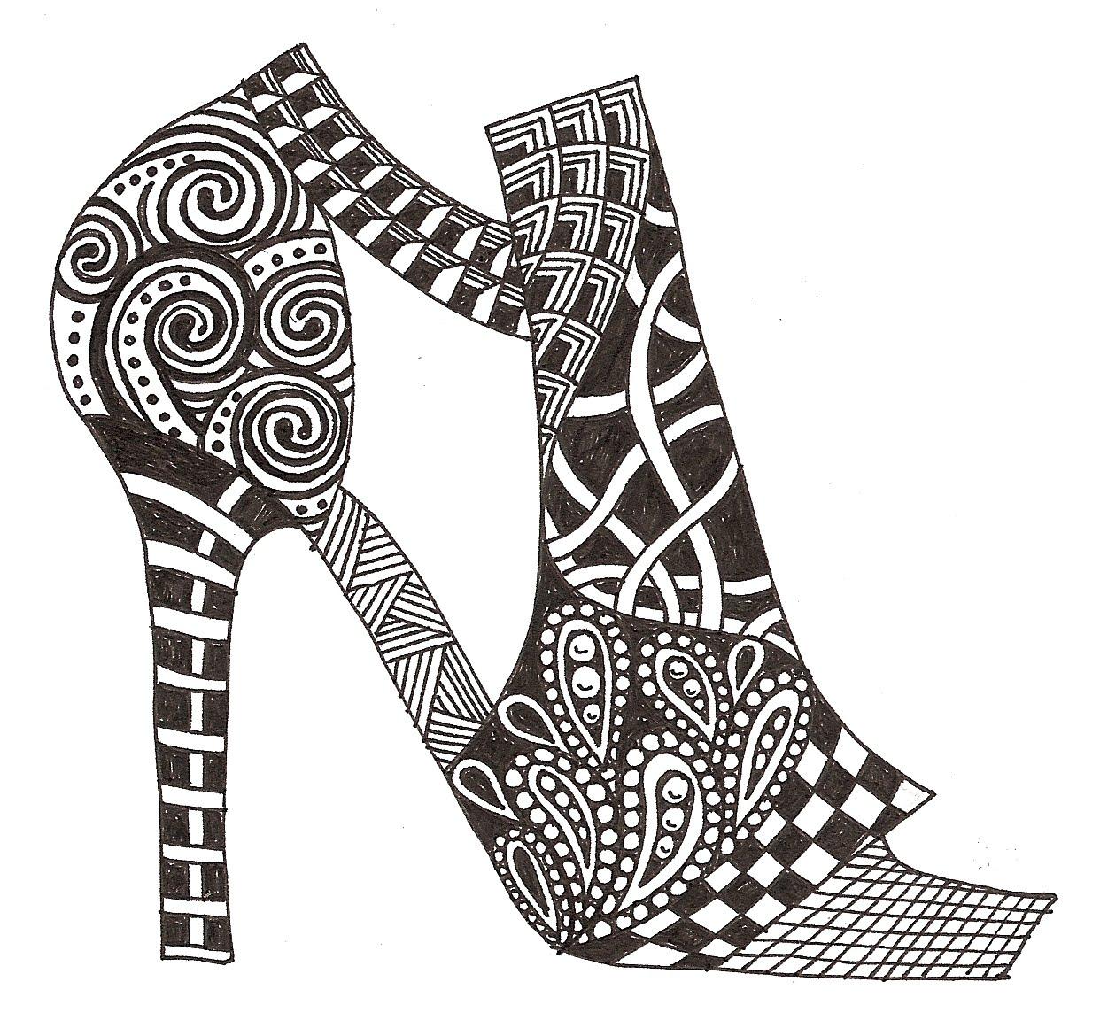 banar designs new zentangles shoe fetish. Black Bedroom Furniture Sets. Home Design Ideas