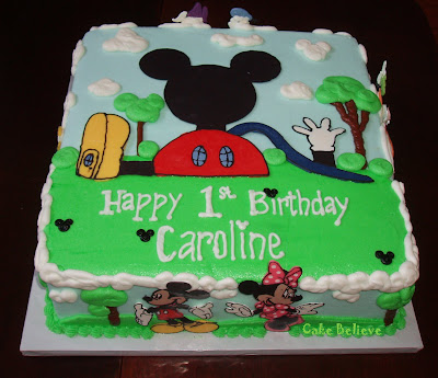 Cake Believe First Birthday Mickey Mouse Clubhouse