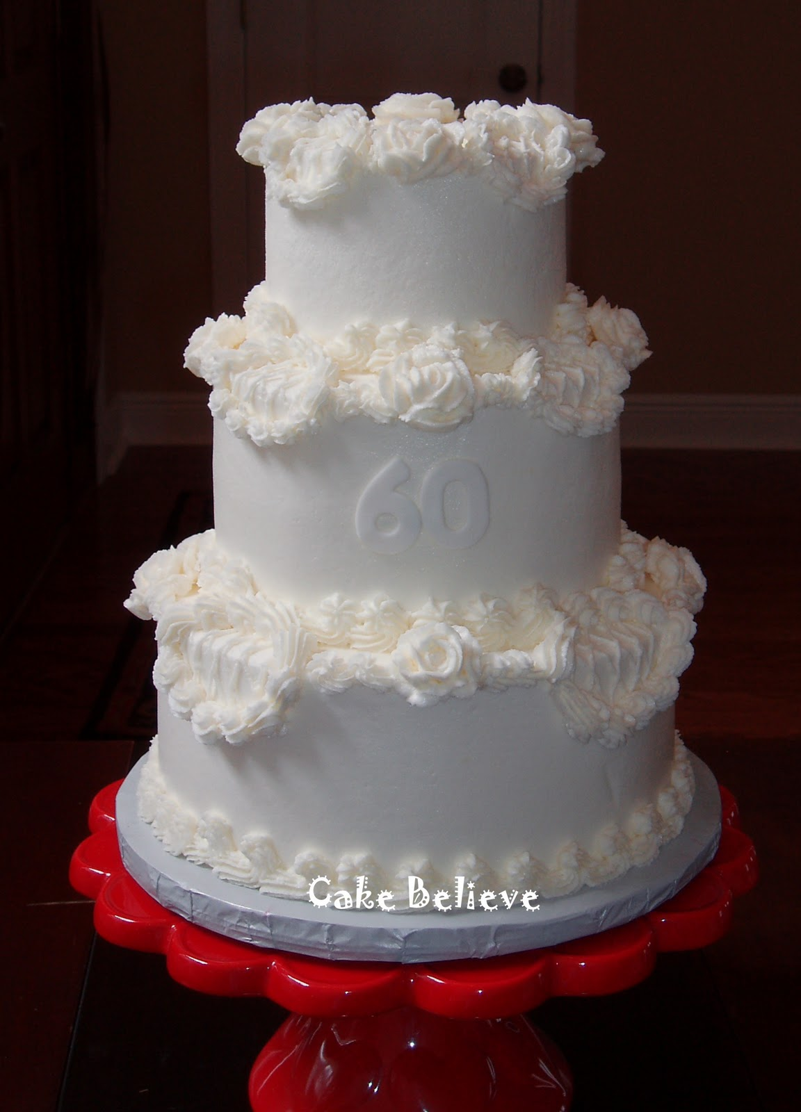 Cake Believe 60th Wedding Anniversary
