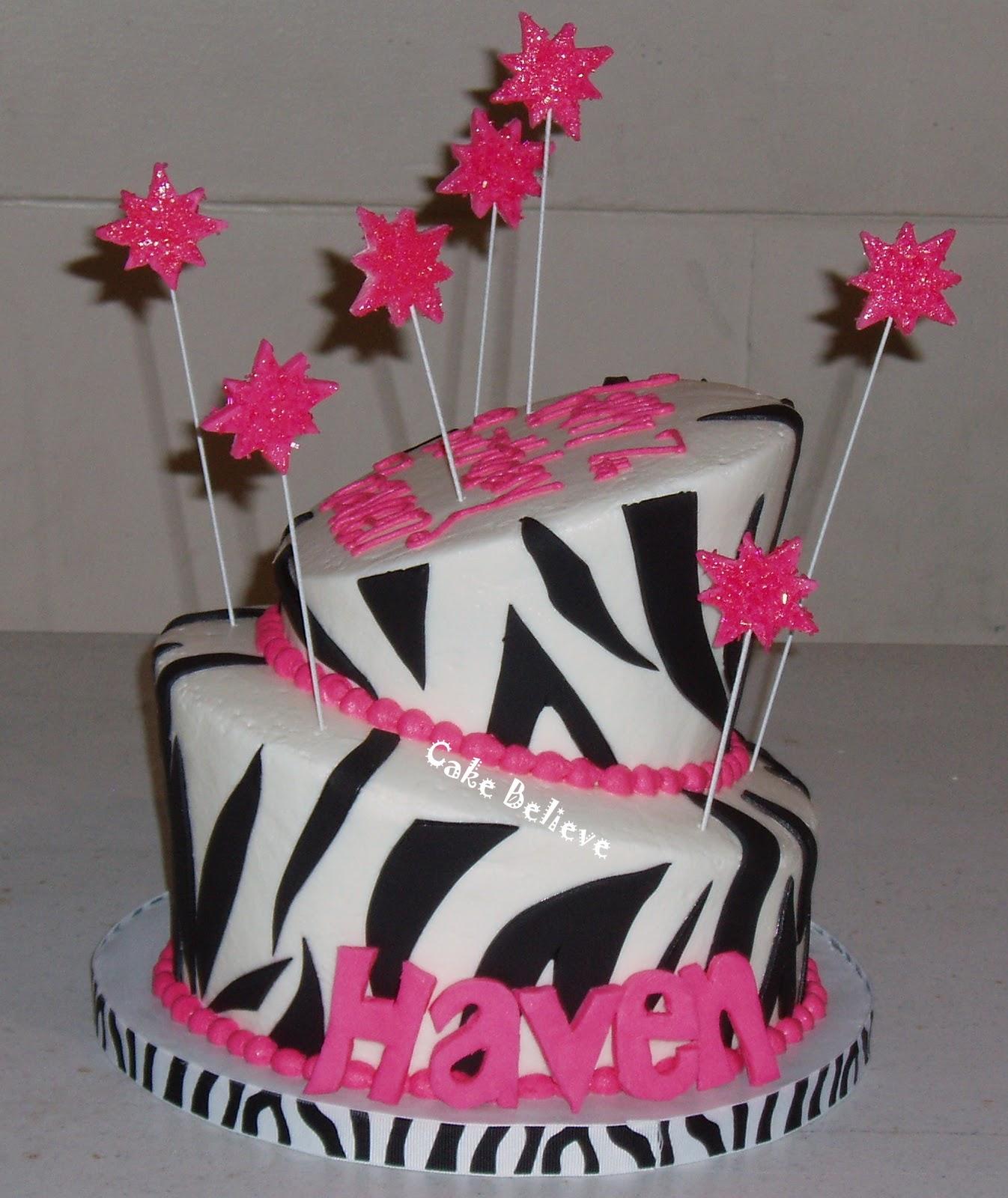 Cake Believe: Topsy Turvy Zebra Print