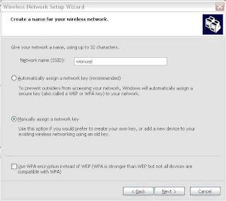 membuat password secara manual apabila hendak masuk ke jaringan