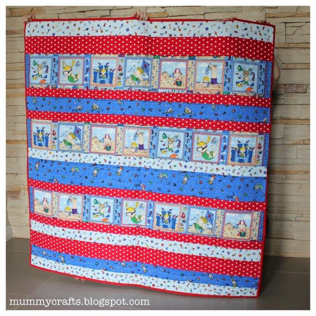 Easy Baby Strip Quilt Tutorial - The Crafty Mummy
