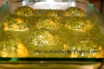 Toor Dal Koftas In Spinach Sauce