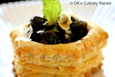 Dried Blueberry Vol-au-vents