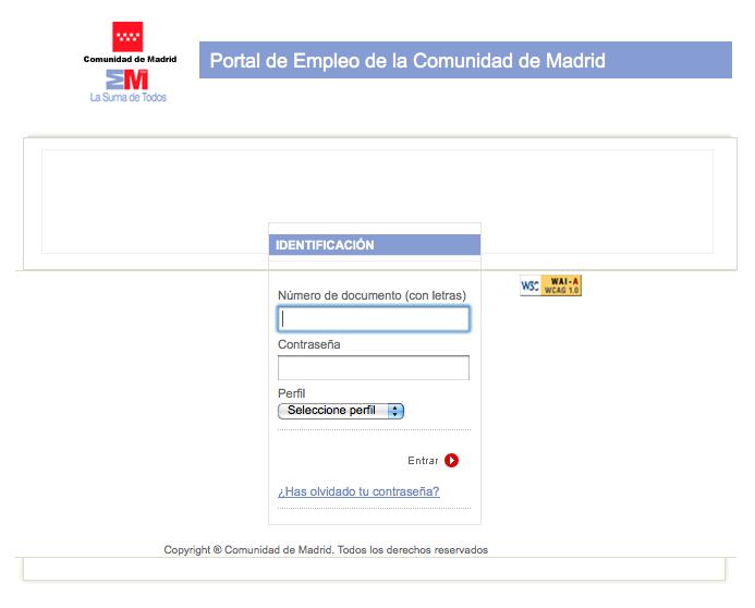 Yo tambi n estoy en paro renovaci n de la demanda de empleo for Portal empleo madrid