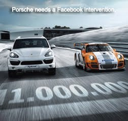 Porsche hits one million fans on Facebook