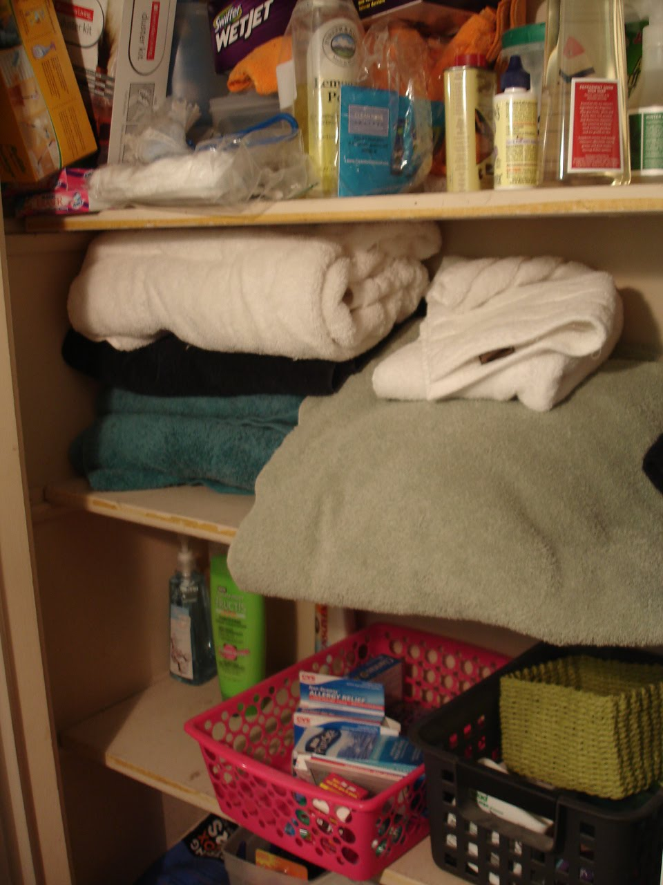My Linen Closet Is Driving Me Crazy Towels Are Falling Off The Shelves There No Room For Toilet Paper Some Rarely Used But Necessary Cleaning Supplies