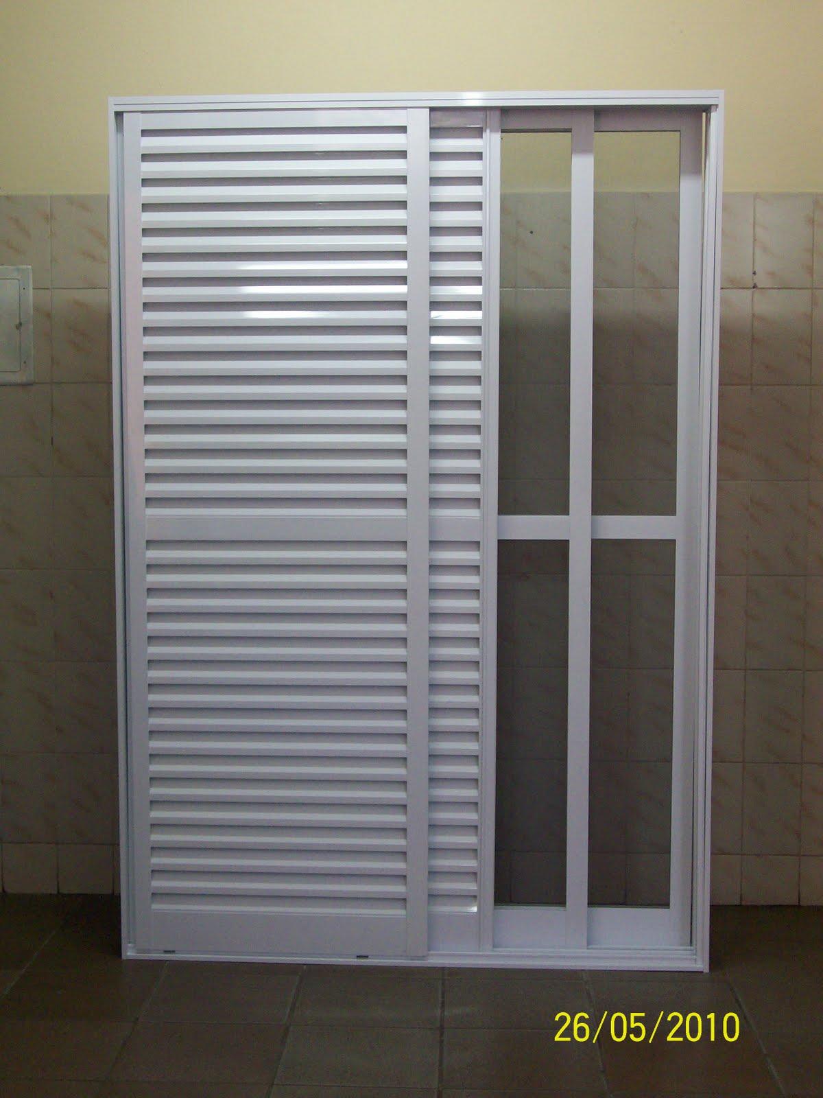 #81764A IPAL ESQUADRIAS DE ALUMINIO E VIDROS 4290 Janela Aluminio Branco 2 Folhas
