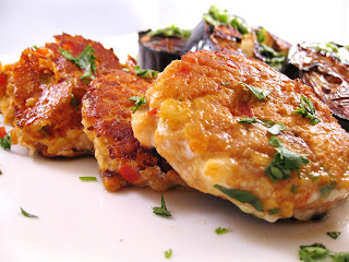 Thai Red Curry Fish Cakes With Broiled Eggplant Recipe (Fish and Seafood)
