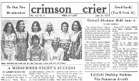 Visit the Andrew Warde High School Crimson Crier Archive