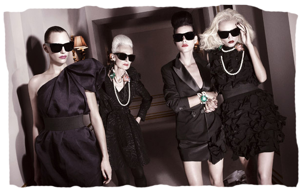 First four looks of Lanvin for H&M
