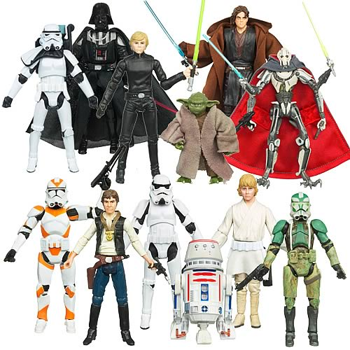 Yoda, R5-D4, Utapau Clone Trooper, Luke Skywalker, Yavin IV Han Solo title=