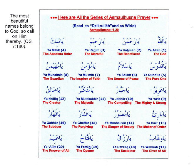 "All the Series of ""Asmaulhusna Prayer"" (1-99)"