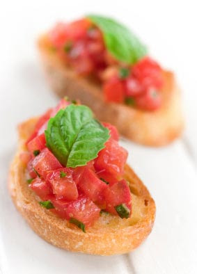 Bruschetta with Tomato and Basil | Skinnytaste