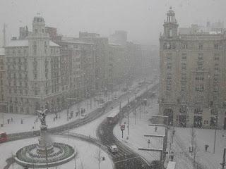 ARCHIVO: Plaza de España y Paseo Independencia de Zaragoza. 22/02/2005.