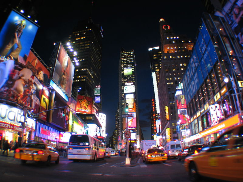 new york times square map. New York Times