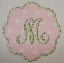 Petal Patch applique (with single or 3 initials)