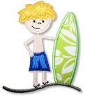 Surfer Boy Applique