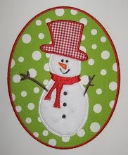 Snowman Patch Applique