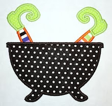 Witch pot applique design
