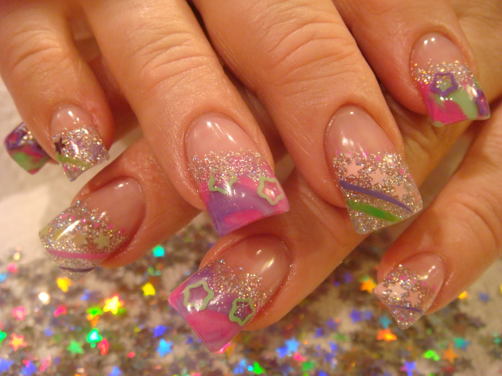 End Nails Acrylic Summer