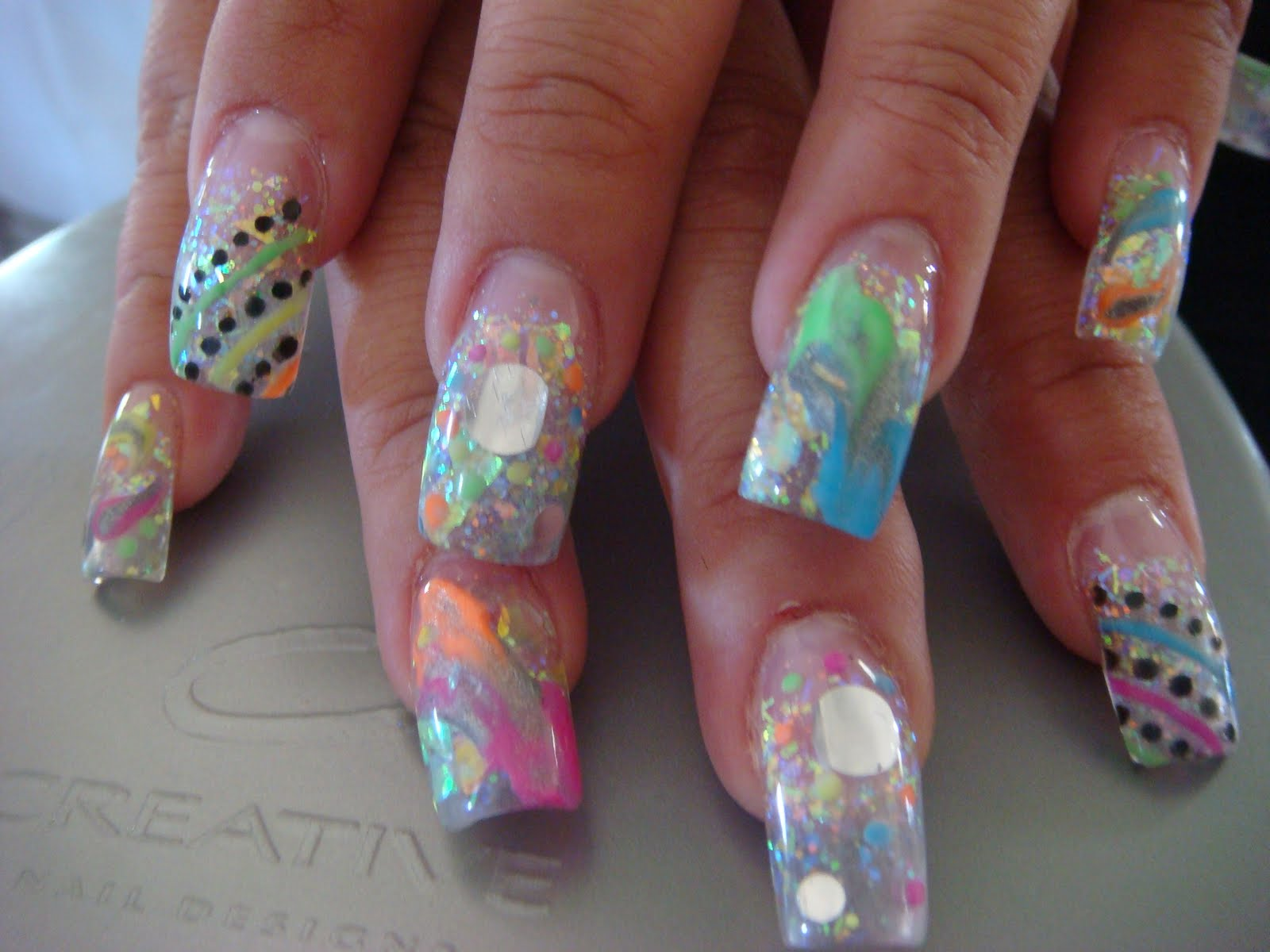Mixed Up Nails Acrylic Nails Acrylic