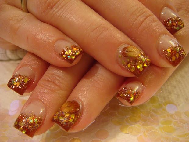 autumn nails acrylic 2010