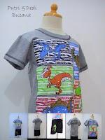 stelan baju kartun motif dinosaurus
