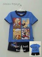 stelan baju kartun anak motif popeye
