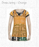 dress remaja motif jaring, Putri Busana