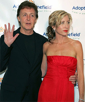 Sir Paul McCartney and wife Heather Mills