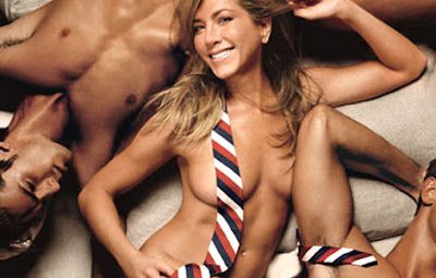 Jennifer Aniston Posses Nude with a Tie