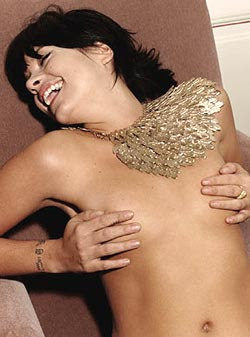 I am comfortable getting them out - tits are tits : Lily Allen