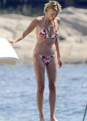 At 52, Sharon Stone dons a bikini