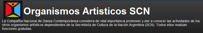 Organismos Artisticos SCN