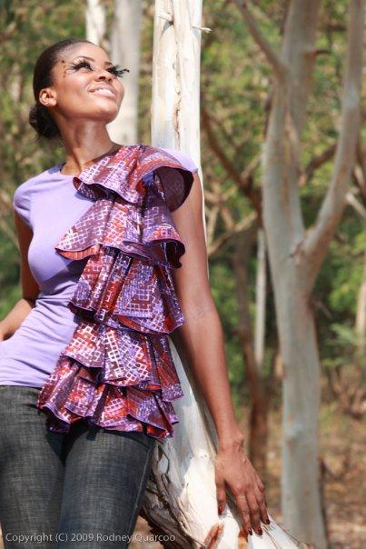 Ghanaian designer Renee Q pagne africain