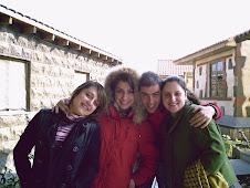 David con Arpine, Ana e Isa
