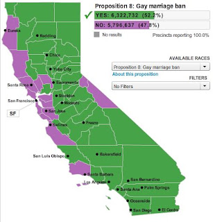 County-by-county results for Prop 8   Just the facts??