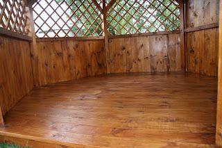 Altanatura Altana Sosnowa Srednica 35m Z Drewnianą Podłogą